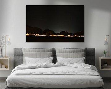 Wadi Rum Jordan bij Starry Night van Robert Styppa