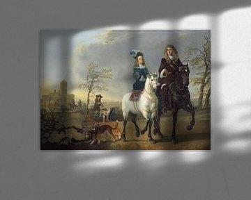Dame und Herr zu Pferd, Aelbert Cuyp