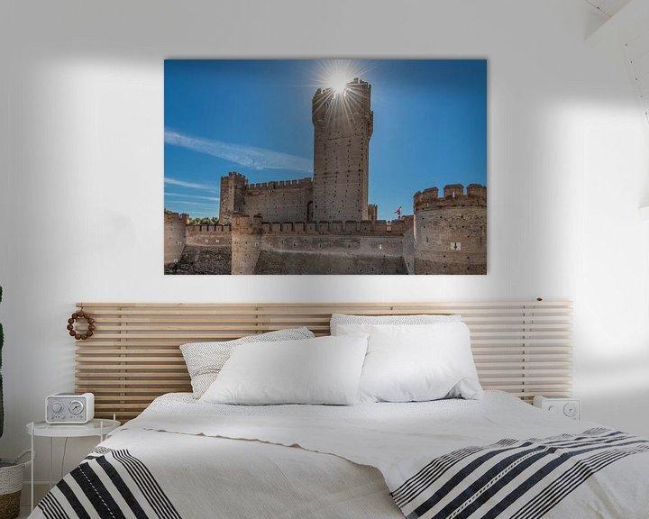 Sfeerimpressie: Het kasteel van Medina del Campo in het noorden van Spanje van Harrie Muis