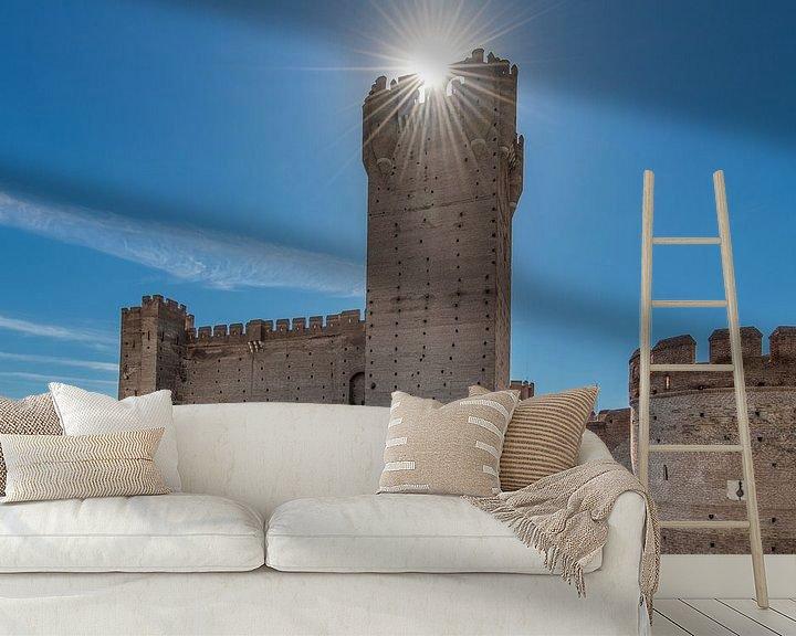 Sfeerimpressie behang: Het kasteel van Medina del Campo in het noorden van Spanje van Harrie Muis