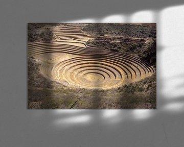Inka-Ringsterrassen bei Moray (alte landwirtschaftliche Versuchsstation) - Peru, Südamerika von Tjeerd Kruse