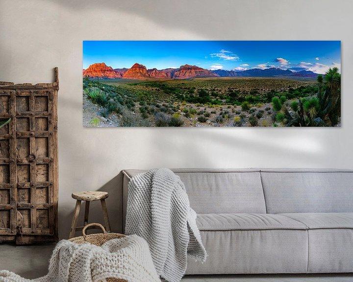Beispiel: Breites Panorama Red Rock Canyon - Las Vegas von Remco Bosshard
