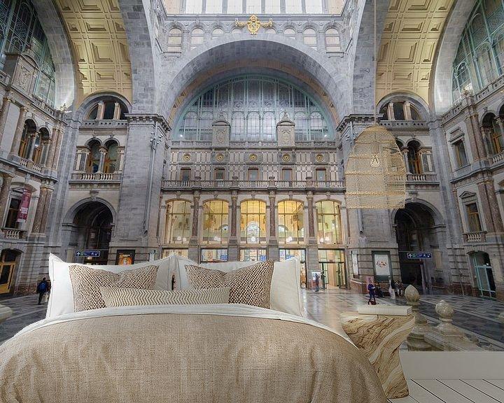 Sfeerimpressie behang: Stationshal Antwerpen Centraal van Mark Bolijn