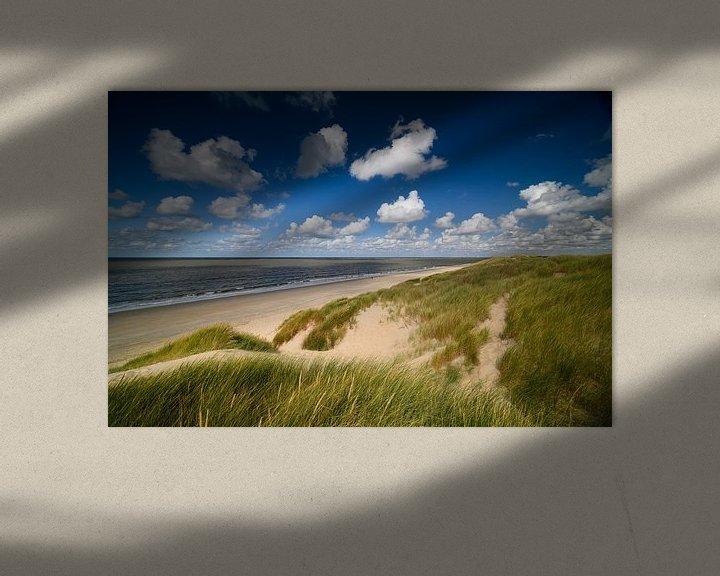 Sfeerimpressie: Hollandse luchten in de duinen met zicht op zee van Ellen van den Doel