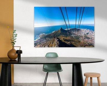 Kaapstad vanuit de kabelbaan op de Tafelberg