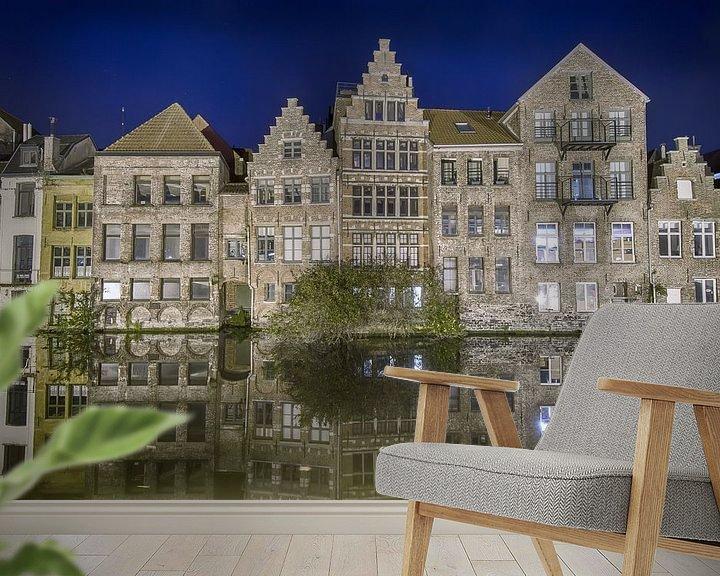 Sfeerimpressie behang: Skyline Gent van Mark Bolijn