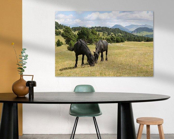 Beispiel: Pferde in den Bergen von Ruud Wijnands