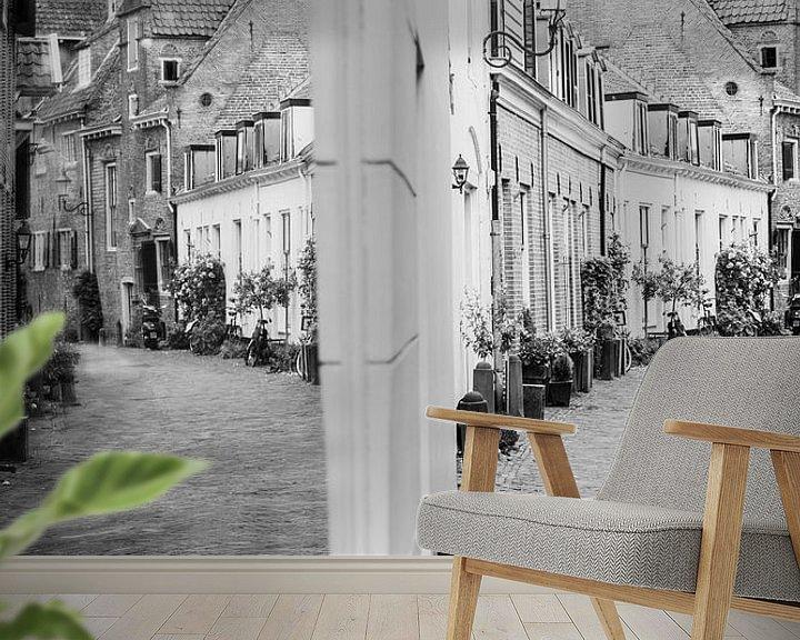 Sfeerimpressie behang: Muurhuizen Amersfoort van Ester Overmars