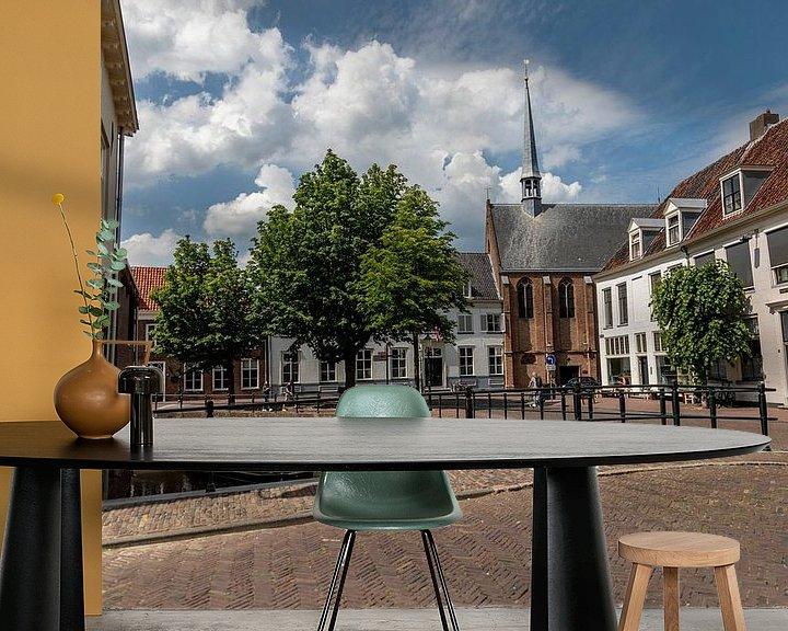 Sfeerimpressie behang: Amersfoort binnenstad van Ester Overmars
