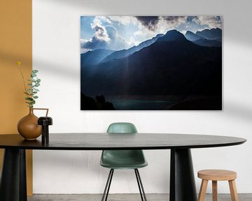 Berggipfel des Aostas, Italien von Ester Overmars