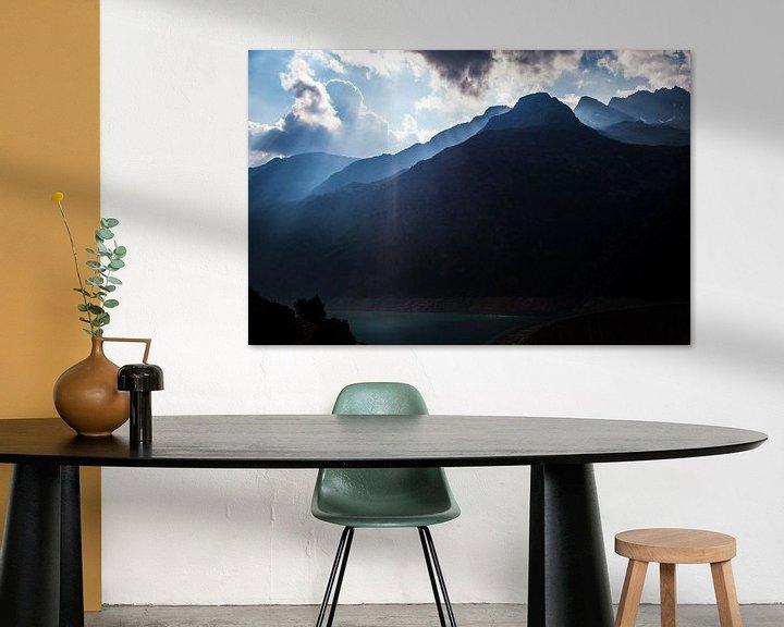 Sfeerimpressie: Bergtoppen van Aosta, Italie van Ester Overmars