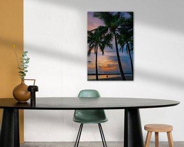 Liebhaber am Waikiki Beach, Honolulu, Hawaii.
