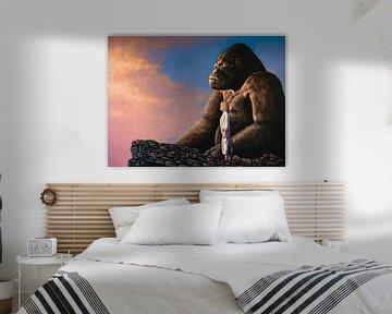King Kong Schilderij van Paul Meijering