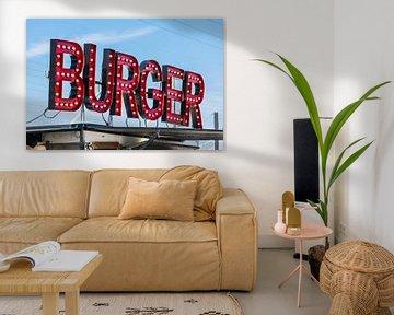 Retro hamburgertent