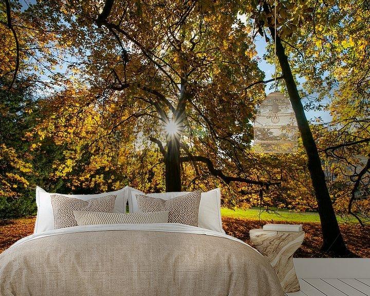 Impression: Châtaignier plein aux couleurs de l'automne sur Arthur Puls Photography