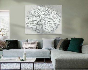Komposition 10 in Schwarz-Weiß, Piet Mondrian