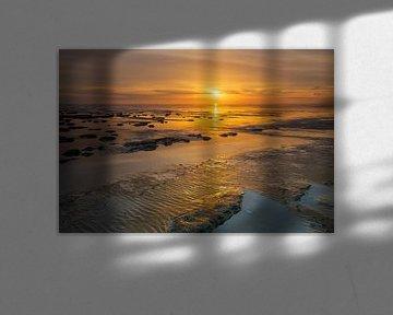 La mer des Wadden sous une belle lumière
