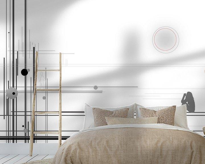 Sfeerimpressie behang: abstract lines #1 van David Berkhoff
