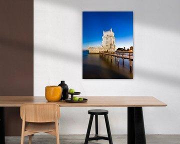 Torre de Belém in Lissabon am Abend von Werner Dieterich