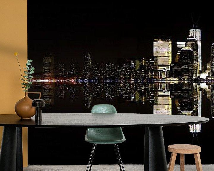 Sfeerimpressie behang: New York City by Night van Renate Knapp