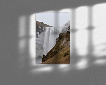 Een van de mooiste watervallen van IJsland: Skógafoss van STUDIO LOT
