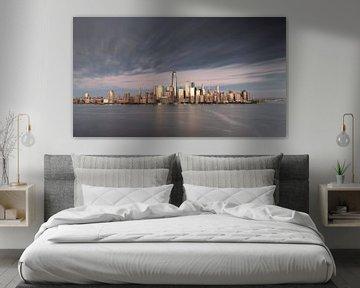 New York City Skyline Sonnenuntergang von Marieke Feenstra