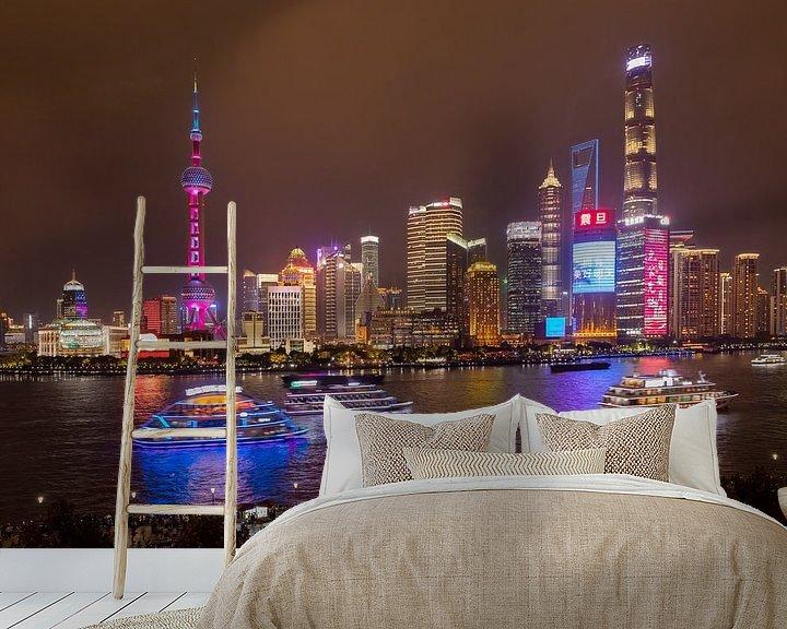 Sfeerimpressie behang: Shanghai adembenemende wereldstad van Lynxs Photography