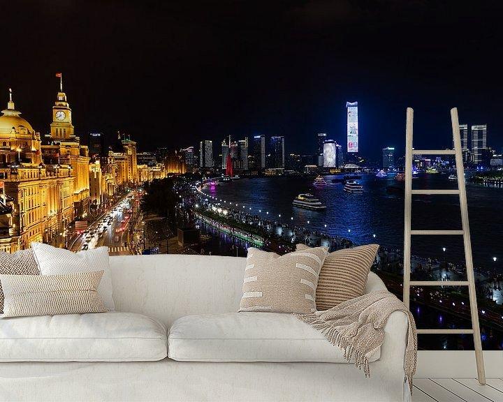 Sfeerimpressie behang: Shanghai on the Bund van Lynxs Photography