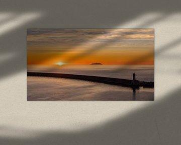 Zonsondergang in Livorno van Lynxs Photography