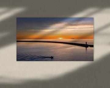 Idyllisch Livorno bij zonsondergang van Lynxs Photography