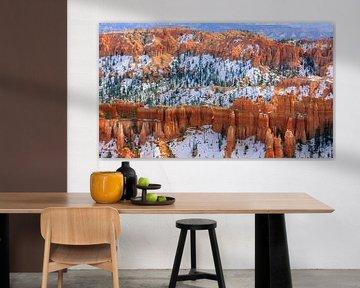 Winter im Bryce Canyon Nationalpark, Utah.