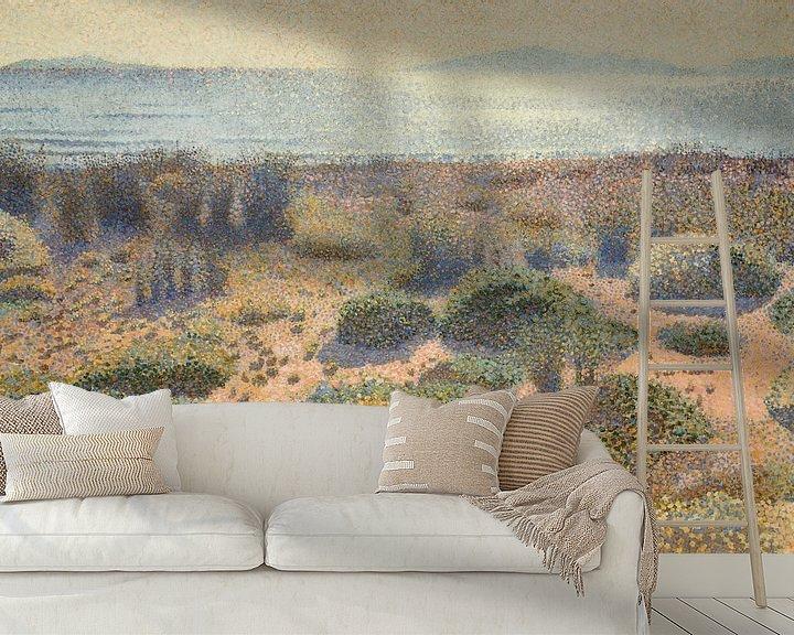 Beispiel fototapete: Strand bei Vignasse, Die Goldenen Inseln, Henri-Edmond Kreuz