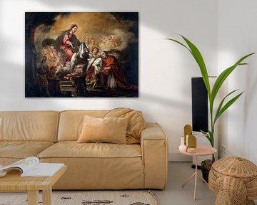 Auferlegung der Kasel auf den Heiligen Ildephonsus, Juan de Valdés Leal