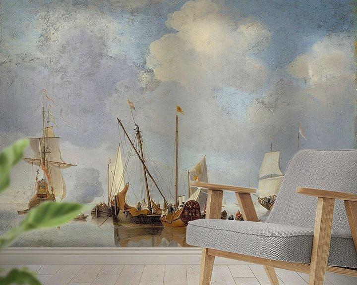 Beispiel fototapete: Eine Ruhe, Willem van de Velde der Jüngere.