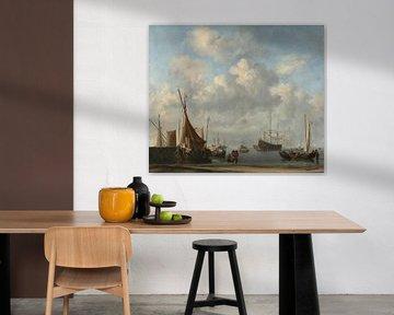 Einfahrt in einen niederländischen Hafen, Willem van de Velde der Jüngere