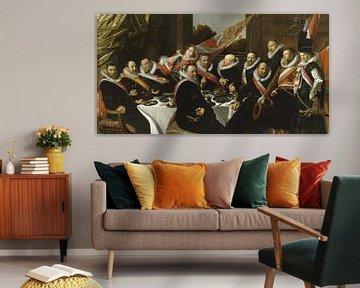Bankett der Offiziere der St. George Bürgerwehr, Frans Hals