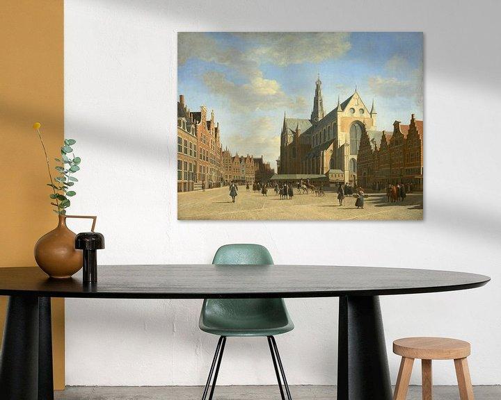 Beispiel: Der Große Markt in Haarlem mit der Kirche St. Bavo, Gerrit Berckheyde
