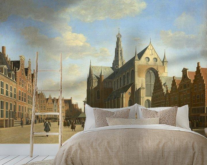Beispiel fototapete: Der Große Markt in Haarlem mit der Kirche St. Bavo, Gerrit Berckheyde