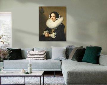 Porträt von Willemina van Braeckel, Johannes Cornelisz Verspronck