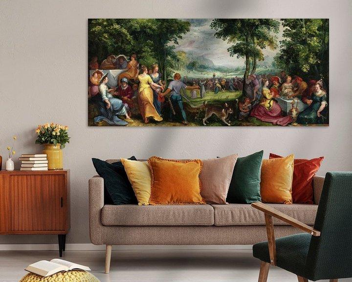 Beispiel: Der Tanz um das Goldene Kalb, Karel van Mander