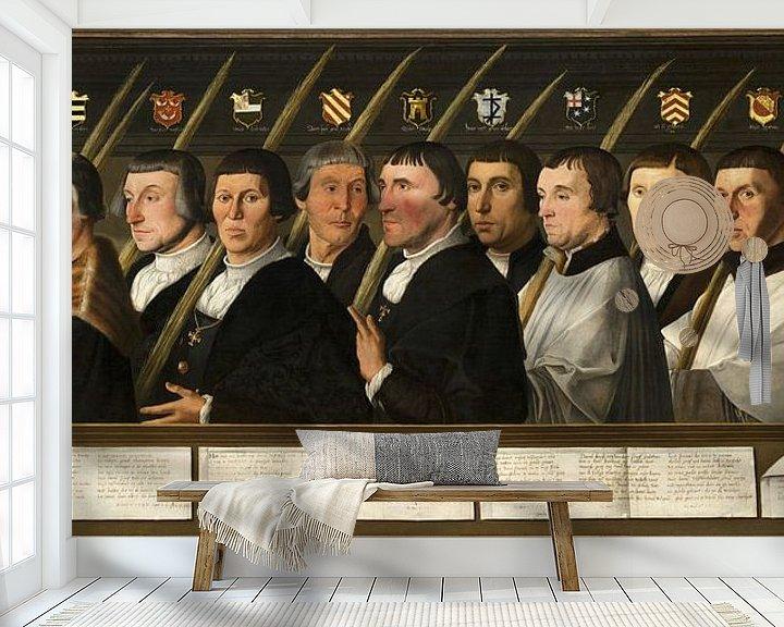 Beispiel fototapete: Zwölf Mitglieder der Haarlem Bruderschaft der Jerusalemer Pilger, Jan van Scorel