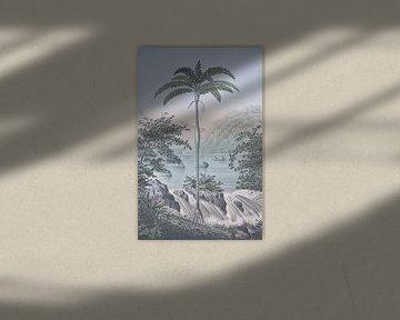 Tropische Landschaft Am Wasserfall von Andrea Haase