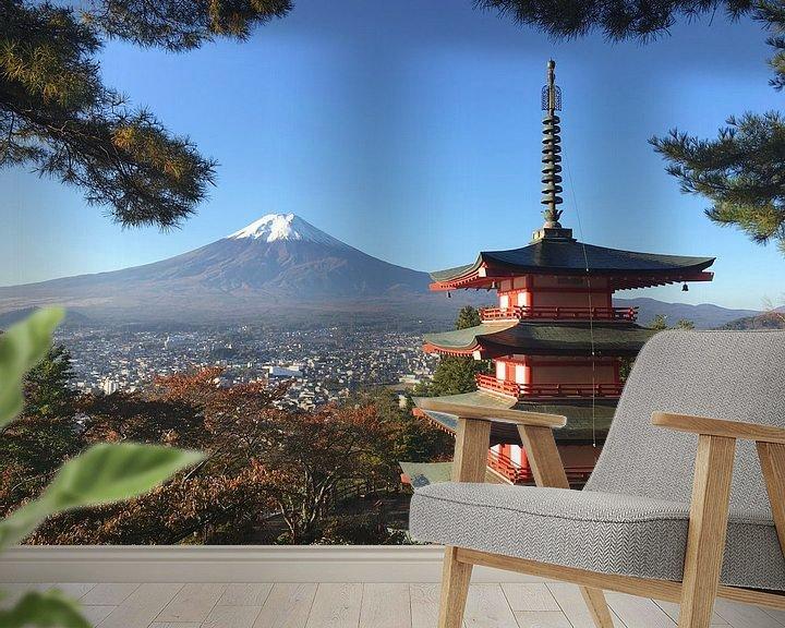 Beispiel fototapete: Heiliger Berg Fuji San von Menno Boermans