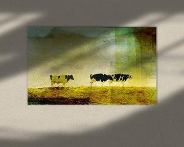Koeien op de dijk van Koen Edens