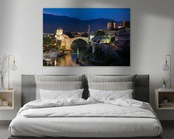 Stari meest - de oude brug in Mostar van Dennis Eckert
