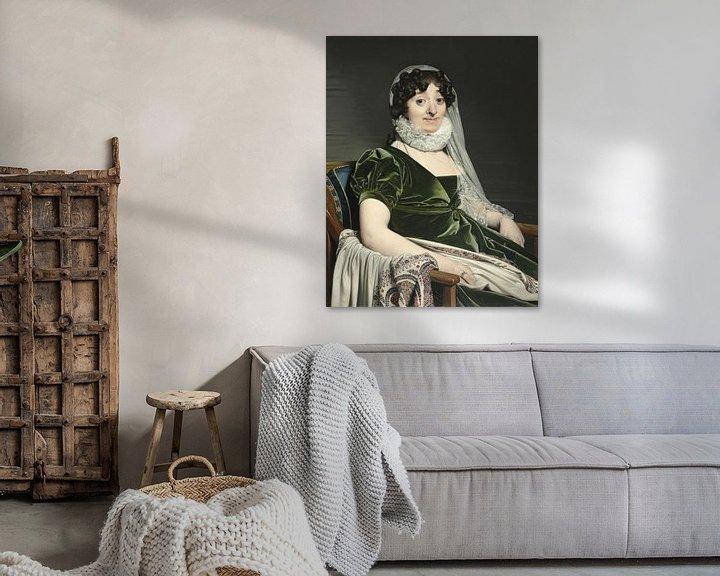 Beispiel: Porträt der Gräfin von Tournon, Jean Auguste Dominique Ingres