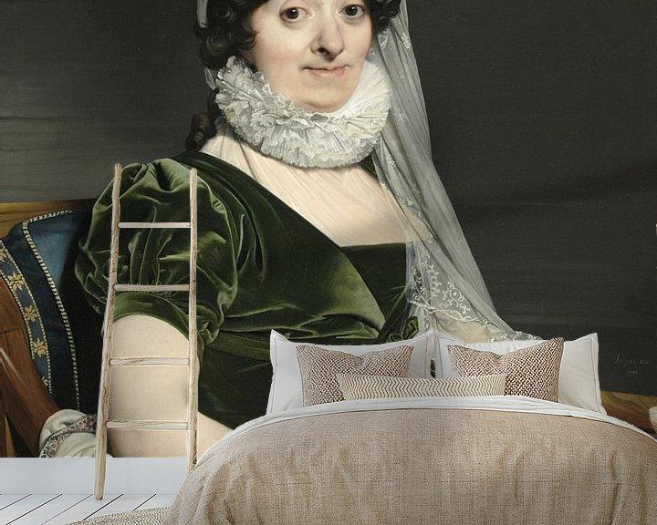 Beispiel fototapete: Porträt der Gräfin von Tournon, Jean Auguste Dominique Ingres