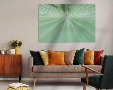 Abstraktes Grün, Palmenblatt von Jefra Creations