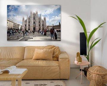 Kathedrale in Mailand, Italien von Kees van Dun