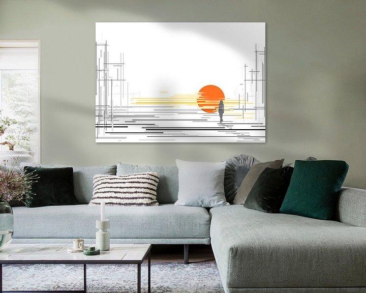 Sfeerimpressie: zonsondergang met lijnen van David Berkhoff
